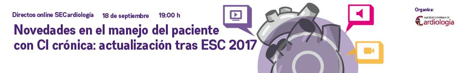 Novedades en el manejo del paciente con cardiopatía isquémica crónica: actualización tras ESC 2017