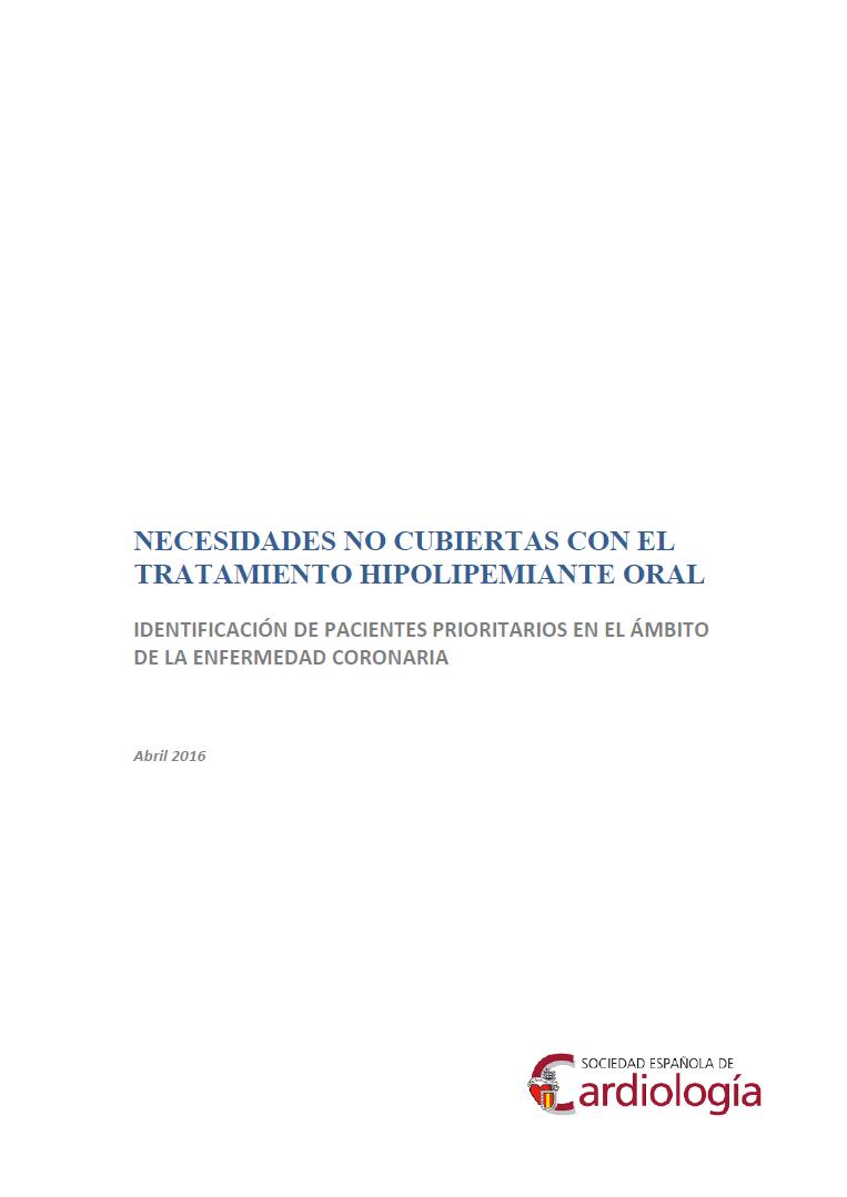 Necesidades no cubiertas con el tratamiento hipolipemiante oral